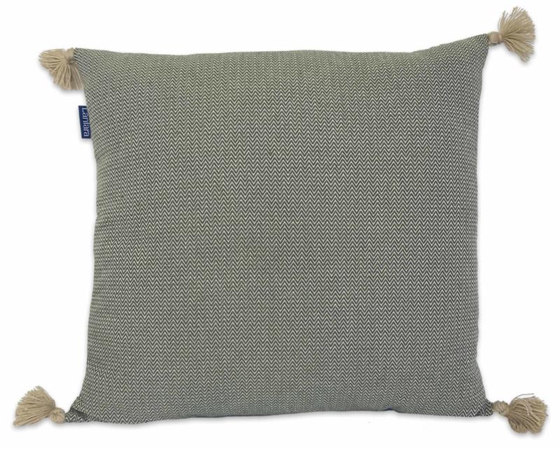 Cushion Pompons - Green - 55x55cm