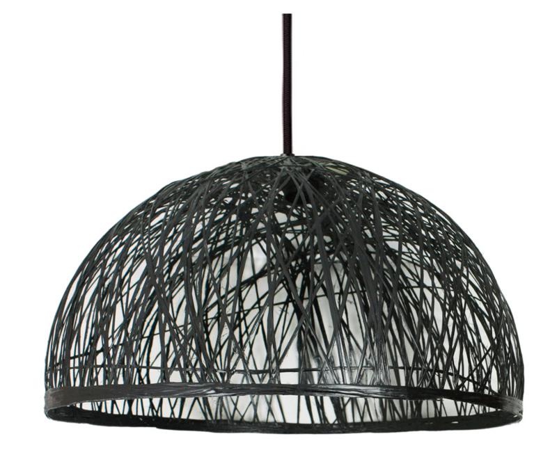 Hanglamp Wicker - Zwart