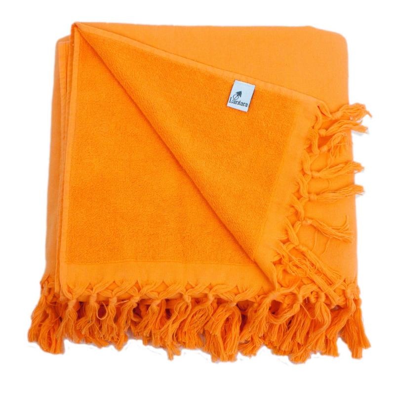 Hamamdoek Badstof - Oranje - 98x190cm (LANTARA)