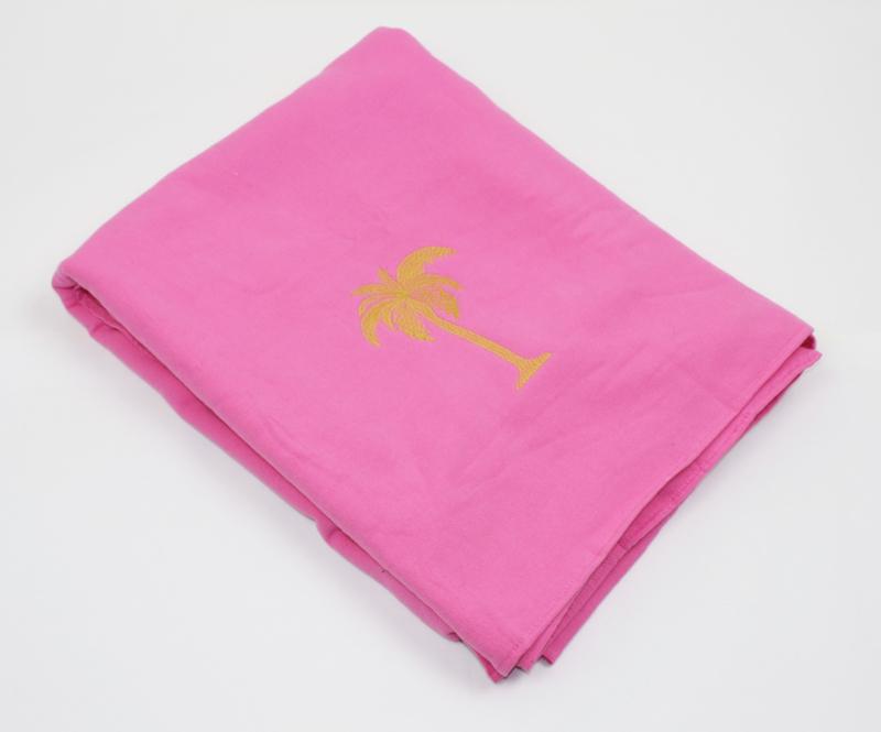 Hamamdoek badstof Palmtree - Roze - 98x190cm