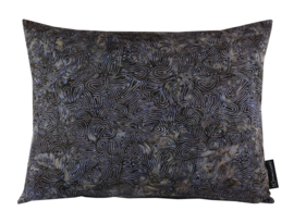 "Kussen Batik ""Cotton Dark Blue - Purple"" 50x40"