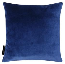 376 Kussen velours dark blue 5633 45x45