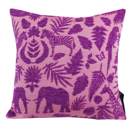 196 Jacquard Chenille Pink-Purple 45x45