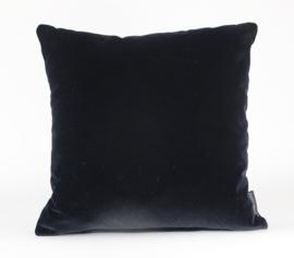 """027 Kussen Velours """"Black 0802"""" 45x45 cm"""