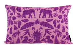 197 Jacquard Chenille Pink-Purple 60x40