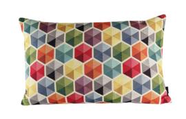 "016 Kussen Gobelin ""hexagon"" 60x40 cm"