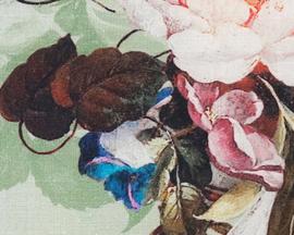 328-1 Kussen Digi Bloom Lin 45x45 licht groen