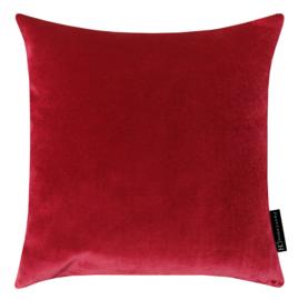 395 Kussen velours red hot 3307 45x45