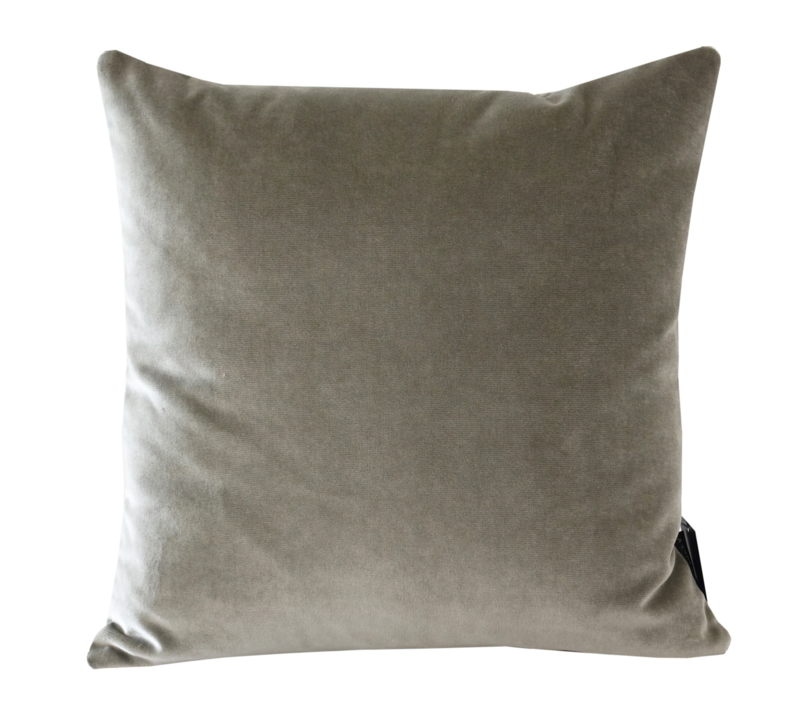 "159 Kussen velours deluxe ""Warm Grey"" 45x45"