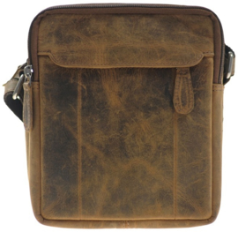 LD leather Design Heren Schoudertas Hunter/Bruin