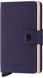 Secrid Miniwallet Matte Purple-Rose