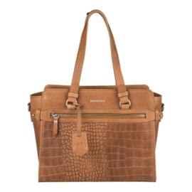 Burkely Croco Cody Handbag S Cognac