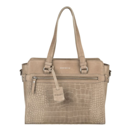 Burkely Croco Cody Handbag S Grey