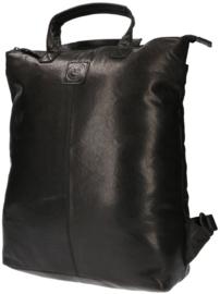 LD Leather Design Rugtas S Zwart