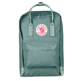"Fjällräven Kånken laptop 15"" Rugtas Frost Green - Chess Pattern"