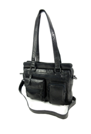 LD Leather Design Schoudertas Black