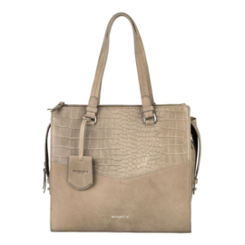 Burkely Croco Cody Handbag M  Grey