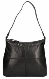 LD Leather Design Schoudertas Zwart