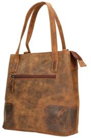 LD leather Design Rugtas Hunter/Brown