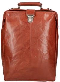 LD Leather Design Rugtas L Cognac