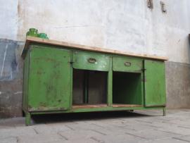 XL Groen Industriële Werkbank | 203cm Breed