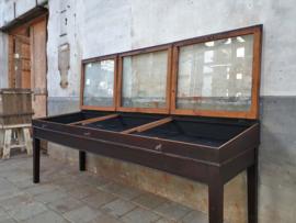 Antieke Duitse Juweliersvitrine
