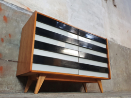 Vintage Jiroutek Ladenkast | Zwart Wit L