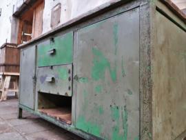 Groen-Grijze Industriële Werkbank
