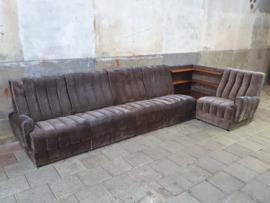Jaren '70 Grijze Lounge Bank