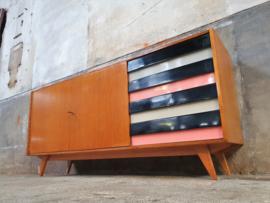 Design Dressoir Jiroutek U-460 | Wit Zwart Roze