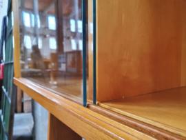 Jaren '60 Design Highboard met Vitrine III
