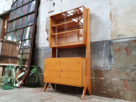 Jaren '60 Design Highboard met Vitrine