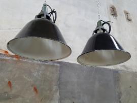 Industriële Hanglamp Emaille Zwart