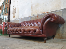 Vintage Bruine Chesterfield