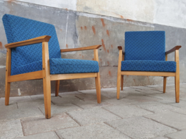 Vintage Blauwe Stoelen