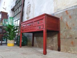 Jaren '70 Rode Sidetable