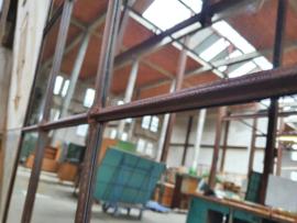 XL Industriële Stalen Spiegel | R177x118