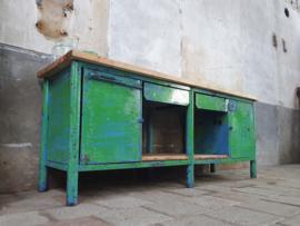 Groen- Blauwe Industriële Werkbank XIV