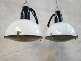 Industriële Witte Fabriekslamp | Emaille