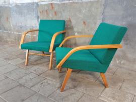Set Aqua- Groene Stoelen | Jaren '60