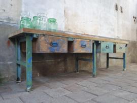 XL Industriële Groen-Blauwe Werkbank