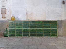 XL Groene Ladenkast | 42 laden