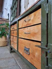 Lage Groene Ladenkast | Staal H62cm