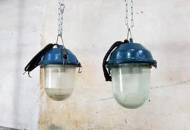 Industriële Blauwe Fabriekslamp | Bully