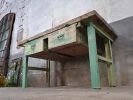 XL Industriële Groene Tafel