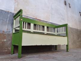 Houten Klepbank | Groen Wit B170cm