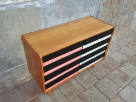 Jiroutek Design Dressoir   Zwart - Wit - Roze