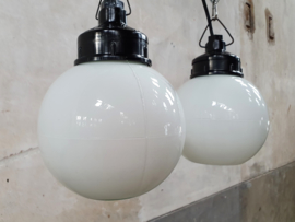 Vintage Opaline Bol Hanglamp