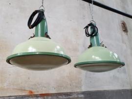 Industriële Groene Hanglamp