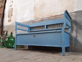 Blauwe Houten Klepbank | B163cm